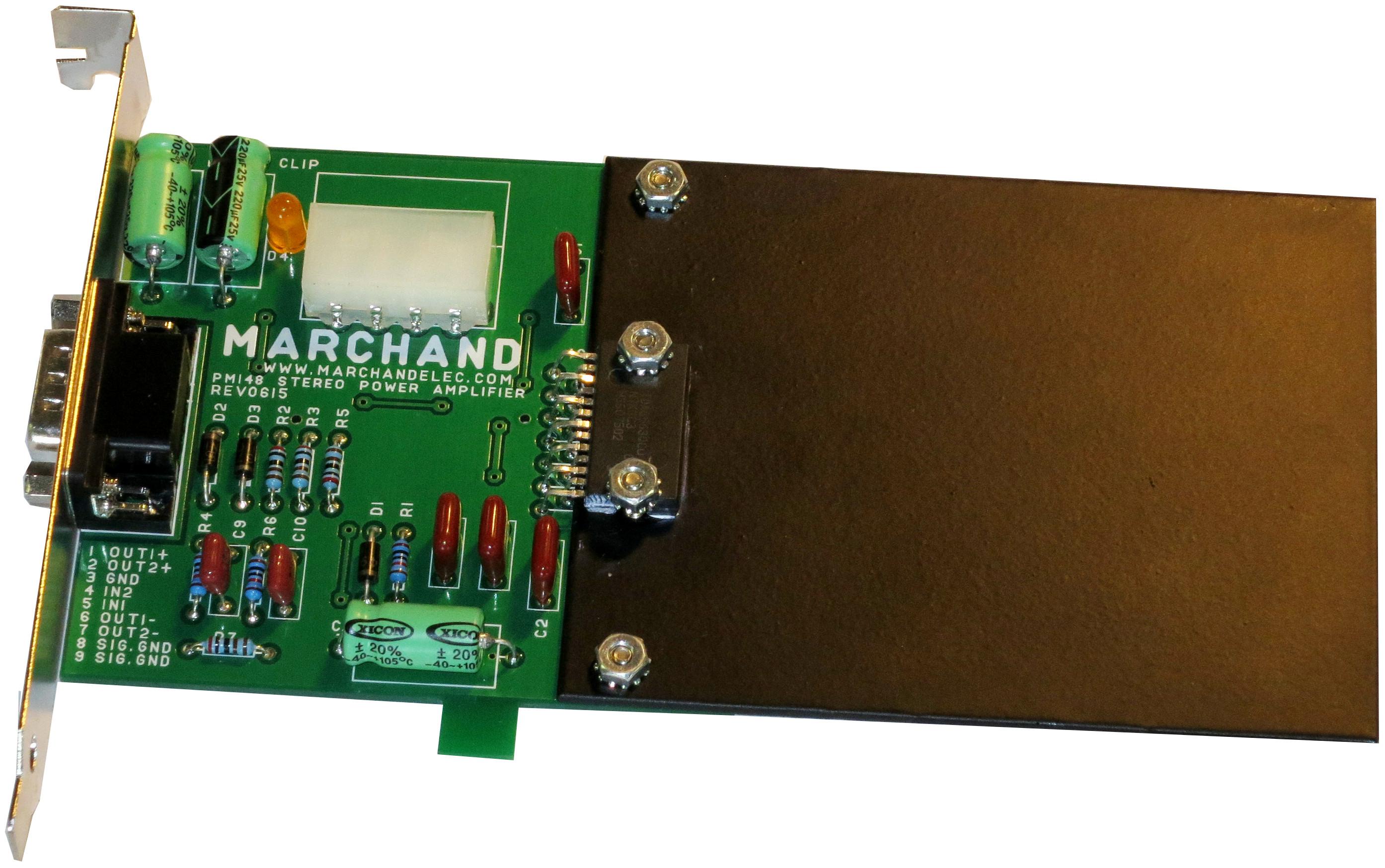 Audio Pc Internal 2x12 Watt Stereo Amplifier Adapter For